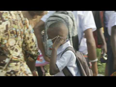 Schools reopen in Kinshasa after virus shutdown in DRC