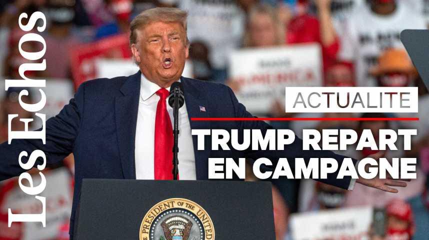 Illustration pour la vidéo Donald Trump repart en campagne et promet « une victoire encore plus grande qu'il y a quatre ans »