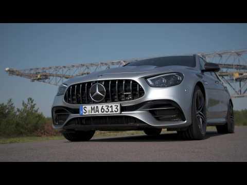 Mercedes-AMG E 63 S 4MATIC+ Sedan in high-tech silver Driving Video