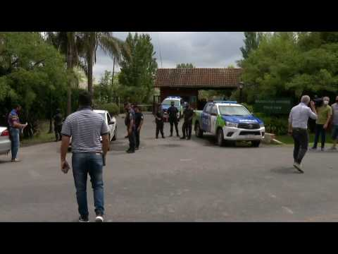 Scene outside Maradona's house after his death