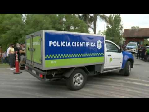 Police forensics vehicle arrives at Maradona's house after his death