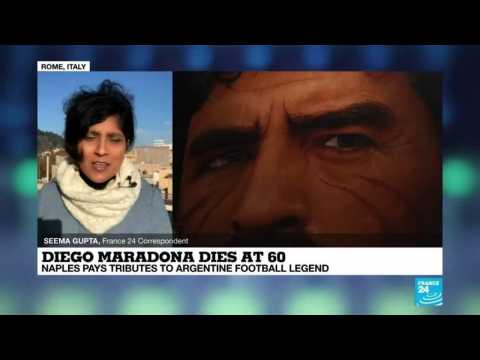Diego Maradona dies at 60: Naples pays tribute to Argentine football legend