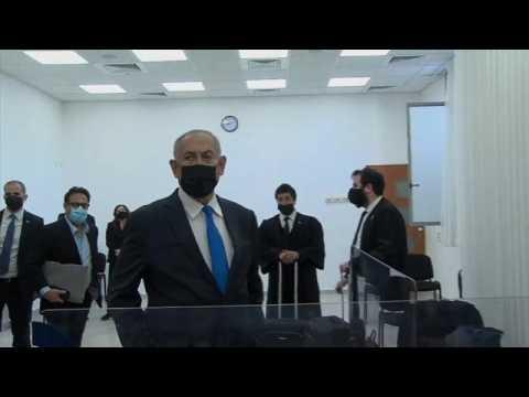 Benjamin Netanyahu enters plea in court in corruption trial