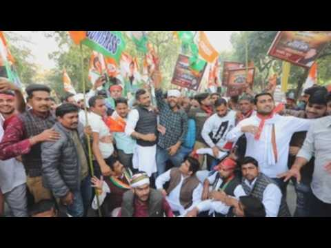 Indian activists detained during protest against new farm laws in New Delhi