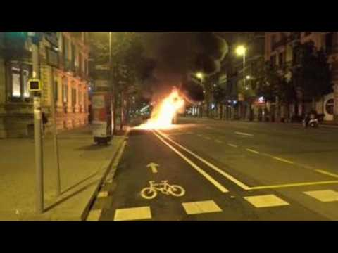 Protesters demanding release of jailed rapper wreak havoc in Barcelona