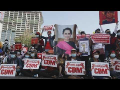 Mass protests take place across Myanmar amid crackdown fears