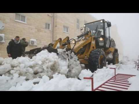 Works to remove snow continue in West Bank