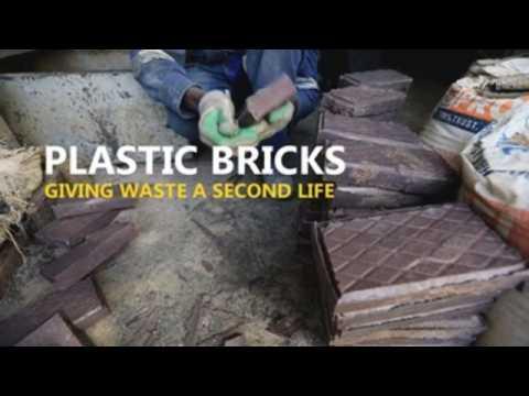 Kenyan woman creates recycled brick