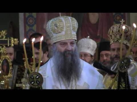 Serbian Orthodox Church entrones its new leader with close government links
