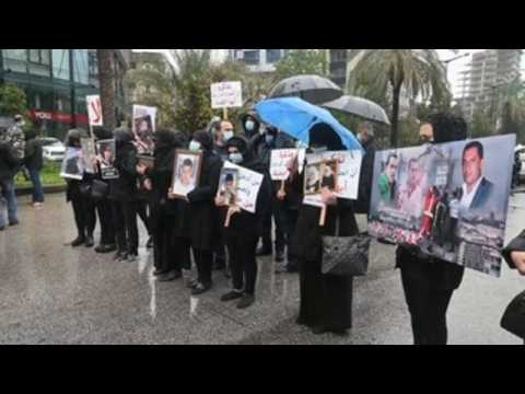 Relatives of victim of the Beirut port explosion protest