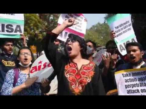 Protest in New Delhi after Dalit girls found dead