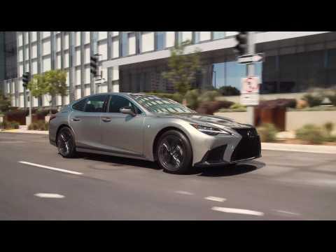 2021 Lexus LS 500 in Silver Driving Video