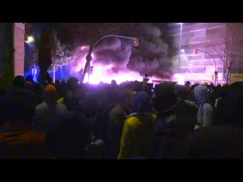 Fires during clashes in Barcelona over jailing of rapper Pablo Hasel