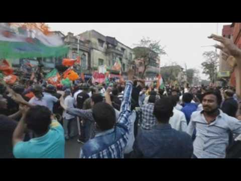 A BJP campaign rally leaves clashes between different political parties in Kolkata