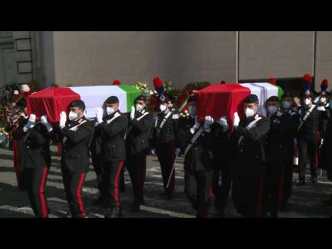 State funeral in Rome for Italian ambassador and his bodyguard killed in DRC