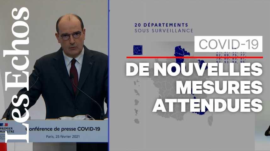 Illustration pour la vidéo 20 départements sont placés en «surveillance renforcée», annonce Jean Castex