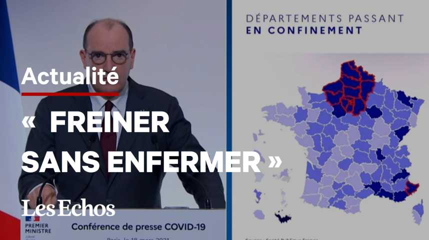 Illustration pour la vidéo Jean Castex annonce un confinement en Île-de-France et dans les Haut-de-France