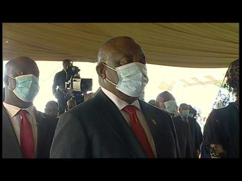 South Africa's Ramaphosa, Zuma arrive for Zulu king memorial