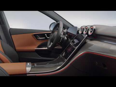 The new Mercedes-Benz C-Class Sedan Interior Design in Studio