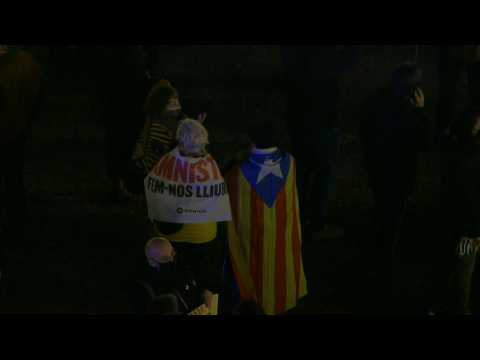 Pro-Catalan independence protest in Barcelona after EU lifts MEPs' immunity
