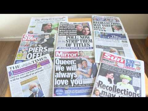 Harry and Meghan: Queen's response to racism claim makes UK front pages