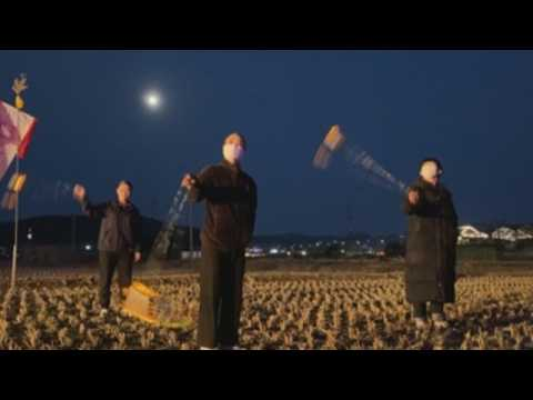 South Korean farmers celebrate first full moon of lunar New Year