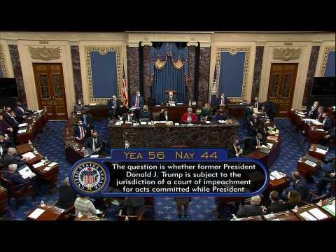 Senate votes that Trump trial is constitutional