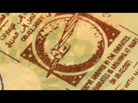 "UAE visitors get ""Martian Ink"" passport stamp commemorating Hope probe"
