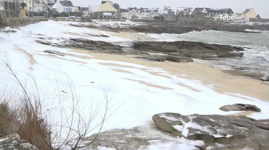 Thumbnail Plœmeur : le bord de mer sous la neige