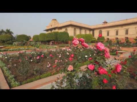 Indian presidential palace's garden set to open for public visit