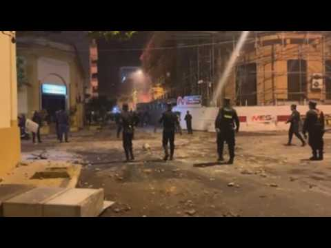 Protesters clash with police in Asuncion amid anger over gov't pandemic management