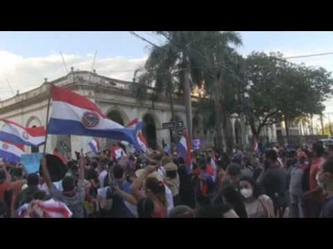 Protesters and police clash in Paraguay amid anger over COVID-19 management