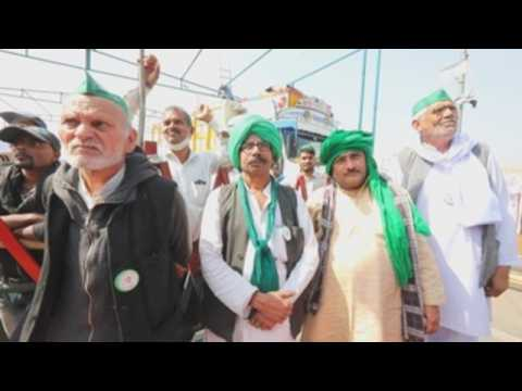 Indian farmers continue to protest against new agricultural laws