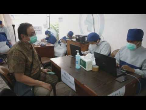 COVID-19 vaccination drive for healthcare workers, elderly people continue in Jakarta