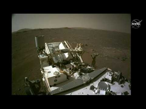 NASA scientists show new videos from the Perseverance rover's landing