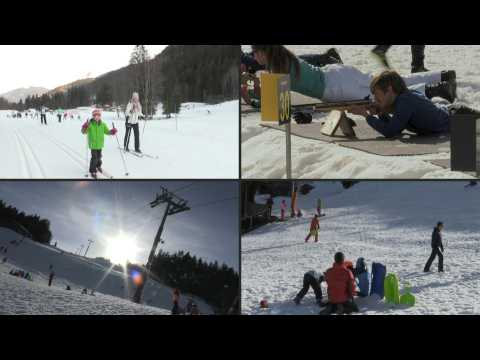 With lifts still closed, French ski resorts are offering alternative activities to try to recoup some of their losses