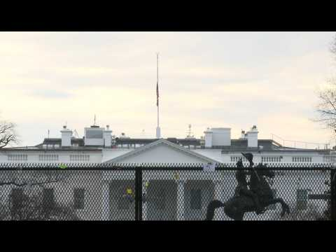 White House flies flag at half mast morning after 500,000 Covid deaths