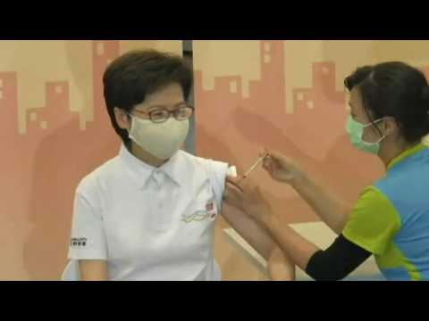Hong Kong leader Carrie Lam gets Chinese Covid-19 vaccine