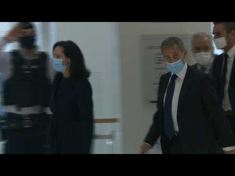 Court arrivals as ex-president Sarkozy faces verdict in France graft trial