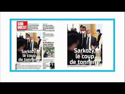 'A thunderbolt': French papers react to corruption conviction of Nicolas Sarkozy