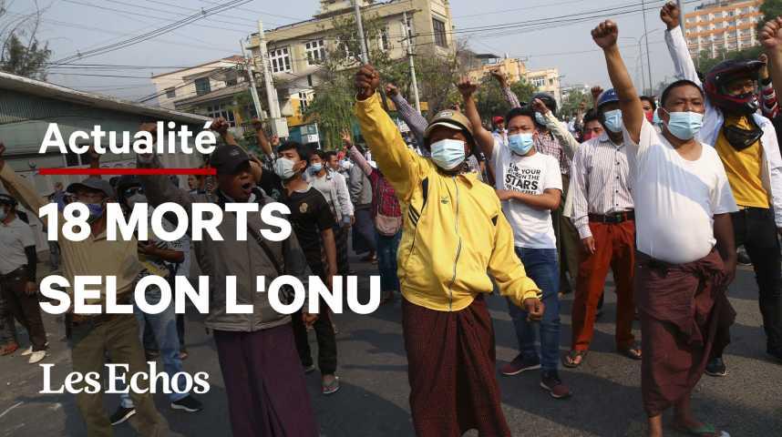 Illustration pour la vidéo Birmanie: la junte intensifie sa répression contre les manifestations