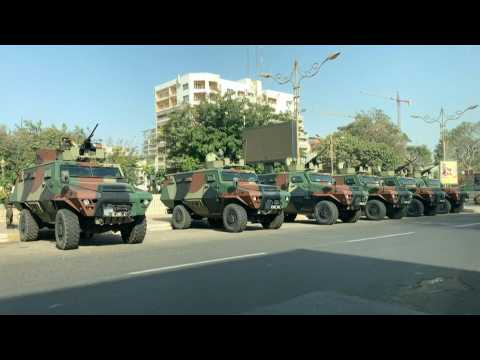 Armoured vehicles in the streets of Senegalese capital as opposition leader appears in court