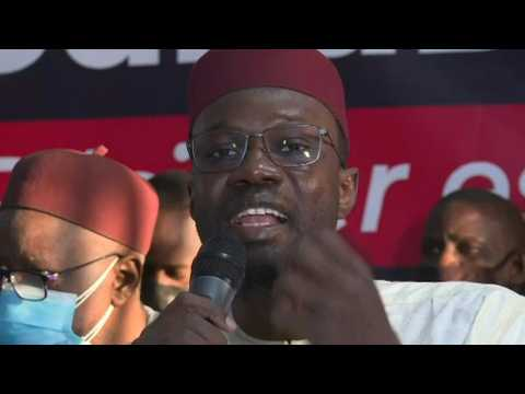Senegalese opposition leader Ousmane Sonko holds press briefing