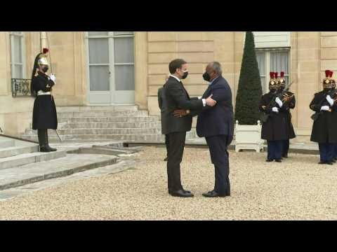 France's Macron meets with Djibouti president at Elysée Palace