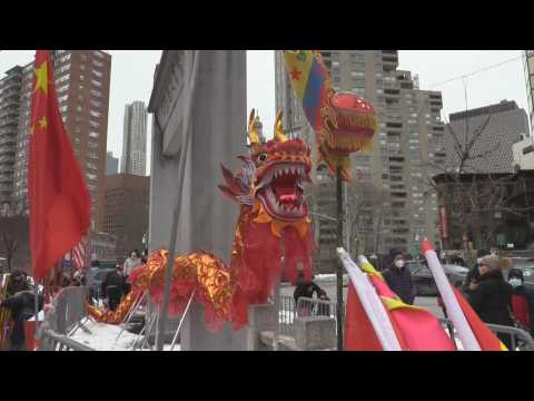 New York's Chinatown welcomes the Lunar New Year with music and dancing