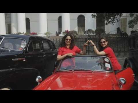 Vintage car rally in Kolkata