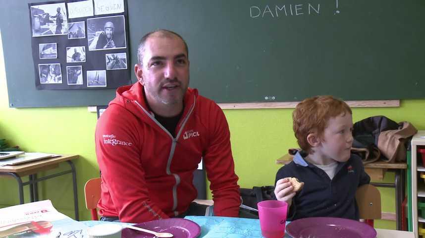 Thumbnail Damien Seguin rencontre des maternelles de Gourin