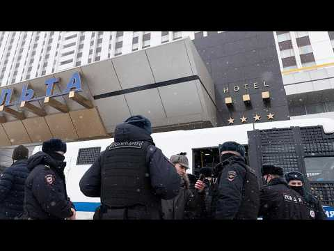 Russian police detain dozens of opposition deputies at forum in Moscow