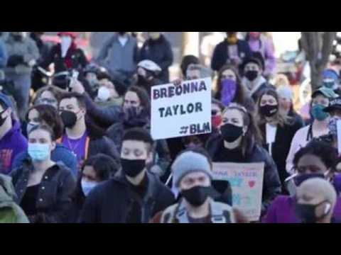Protest in New York to demand justice 1 year after death of Breonna Taylor