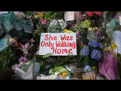 Protesters pay tribute to young woman killed in London